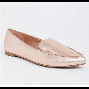 Torrid rose gold, pointed toe flats